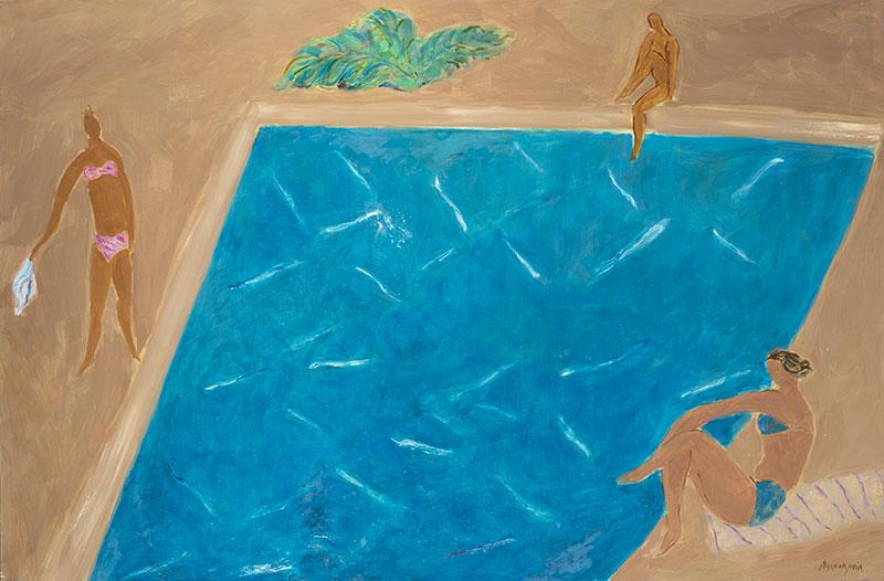 Pierre Boncompain - Autour de la piscine