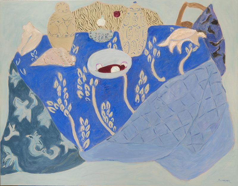 Pierre Boncompain - Batiks bleus et coquillages