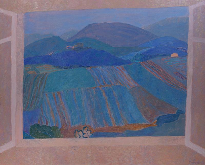 Pierre Boncompain - Fenêtre sur les Vignes - 130 x 180 cm