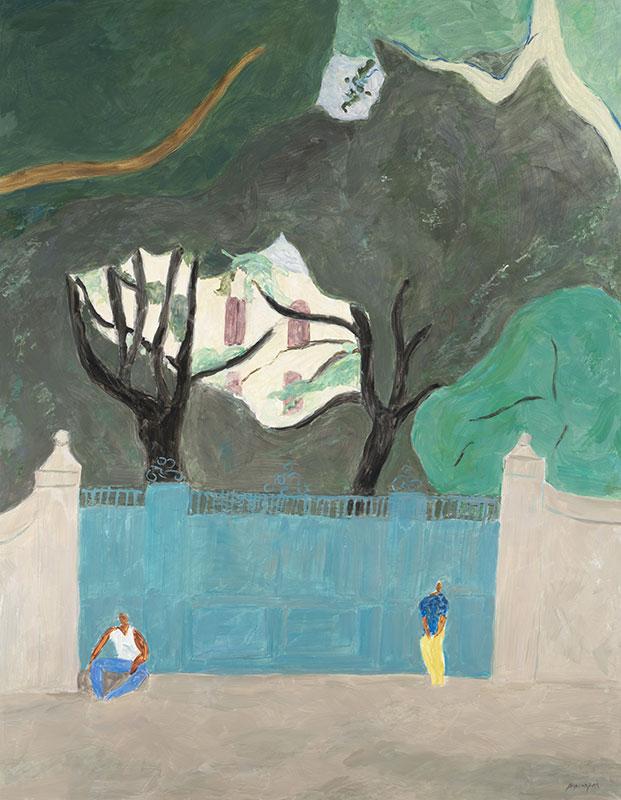 Pierre Boncompain - Le portail de Malaucène - 146 x 114 cm