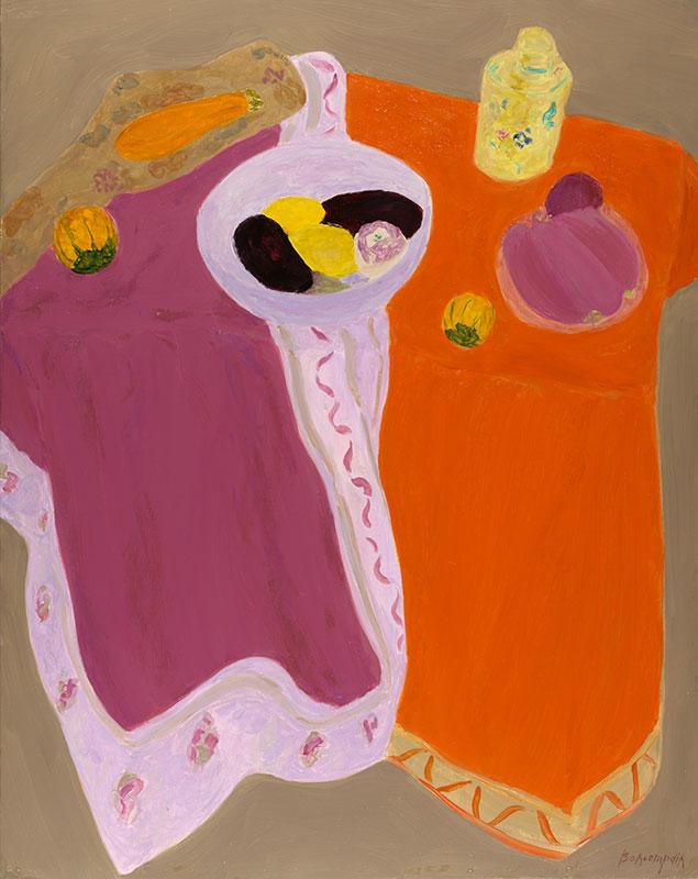Pierre Boncompain - Nappes oranges et mauves
