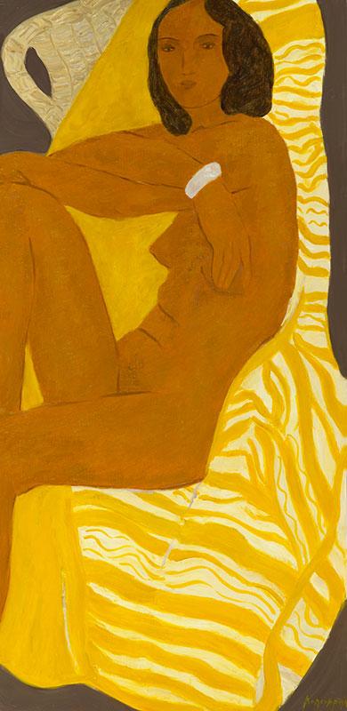 Pierre Boncompain - Nu au rayures jaunes