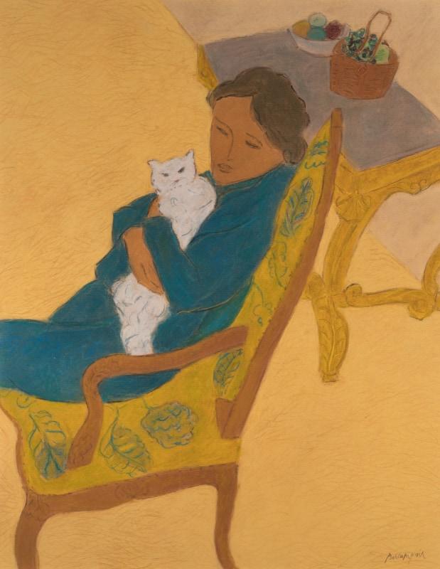 Pierre Boncompain - La chatte Lolita - pastel